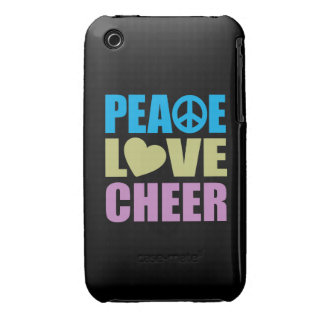Peace Love Cheer Case-Mate iPhone 3 Case