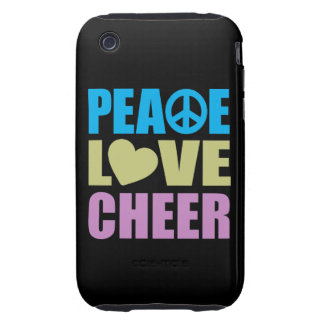 Peace Love Cheer iPhone 3 Tough Cases