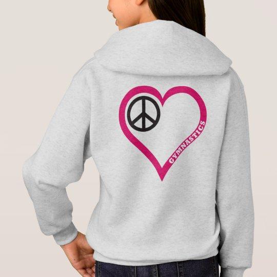 Peace Love Cheer Girl's Gymnastics shirts Hoodies