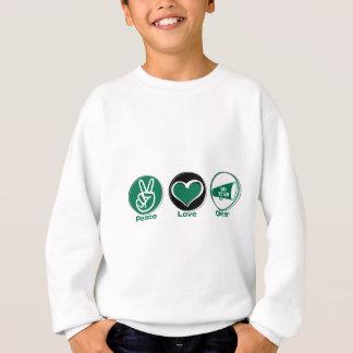 Peace Love Cheer Green Sweatshirt