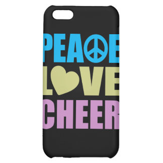 Peace Love Cheer iPhone 5C Cases