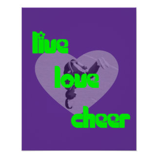 Peace love Cheer poster