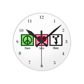 Peace Love Cheer Wallclock