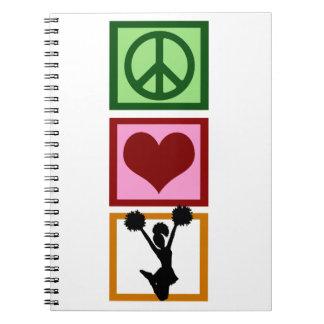 Peace Love Cheerleading Note Books
