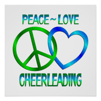 Peace Love CHEERLEADING Poster