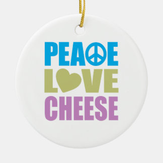 Peace Love Cheese Christmas Ornament