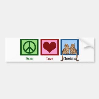 Peace Love Cheetahs Bumper Sticker