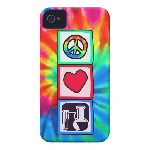 Peace, Love,  Chemistry iPhone 4 Cover
