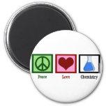 Peace Love Chemistry Magnet