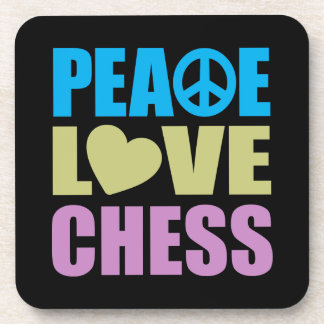 Peace Love Chess Coaster