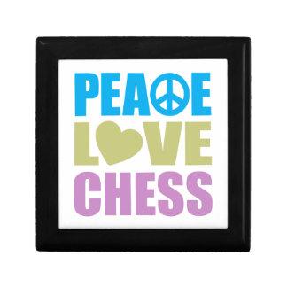 Peace Love Chess Small Square Gift Box