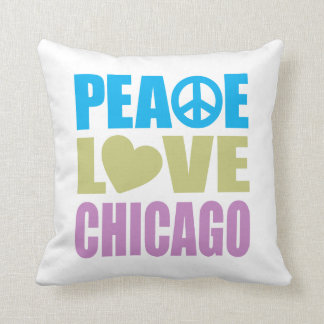 Peace Love Chicago Cushion