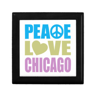 Peace Love Chicago Keepsake Boxes