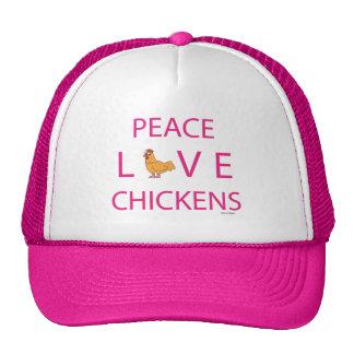 Peace Love Chickens Trucker Hat