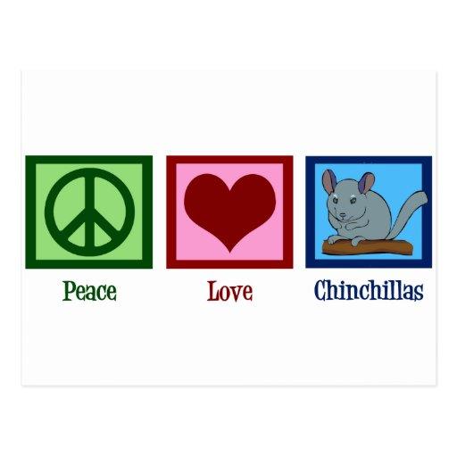 Peace Love Chinchillas Postcards