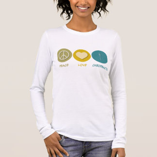 Peace Love Chiropractic Long Sleeve T-Shirt