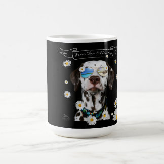 Peace Love Chocolate Dalmatian Coffee Mug
