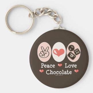 Peace Love Chocolate Key Chain