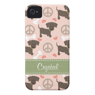 Peace Love Chocolate Labs Blackberry Bold Case
