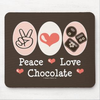 Peace Love Chocolate Mousepad