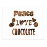 Peace Love Chocolate Post Card