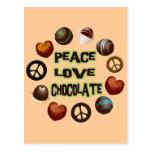PEACE LOVE CHOCOLATE POST CARDS