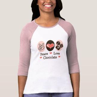 Peace Love Chocolate Raglan T shirt