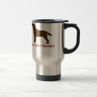 Peace Love Chocolate Stainless Steel Travel Mug