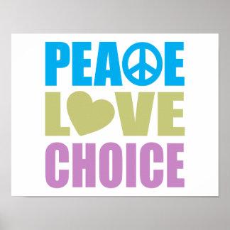 Peace Love Choice Poster