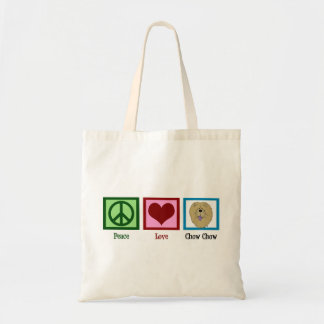 Peace Love Chow Chow Budget Tote Bag