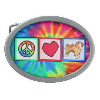 Peace, Love, Chow Chows Belt Buckles