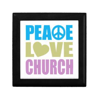 Peace Love Church Trinket Box
