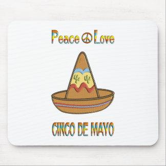 Peace Love Cinco de Mayo Mouse Pad