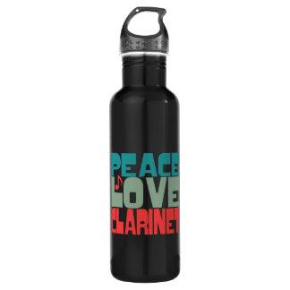 Peace Love Clarinet 24oz Water Bottle