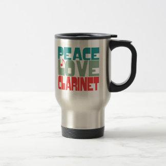 Peace Love Clarinet Coffee Mug