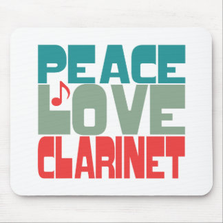Peace Love Clarinet Mouse Pad
