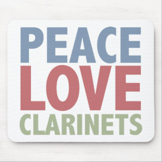 Peace Love Clarinets Mouse Mat