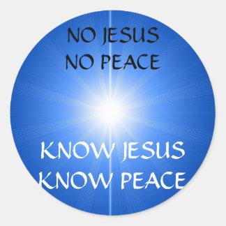PEACE & LOVE CLASSIC ROUND STICKER
