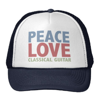 Peace Love Classical Guitar Cap