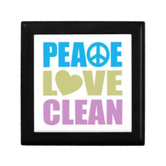 Peace Love Clean Small Square Gift Box