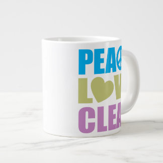 Peace Love Clean Extra Large Mugs