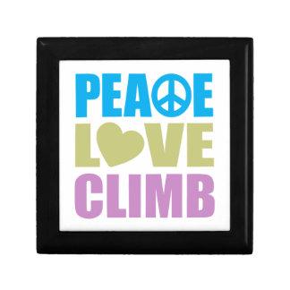 Peace Love Climb Small Square Gift Box