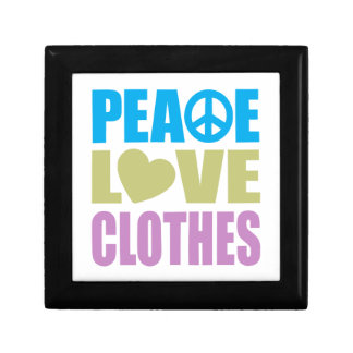 Peace Love Clothes Small Square Gift Box