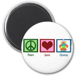 Peace Love Clowns Magnet