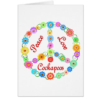 Peace Love Cockapoos Card