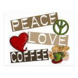 PEACE LOVE COFFEE 2 POST CARD