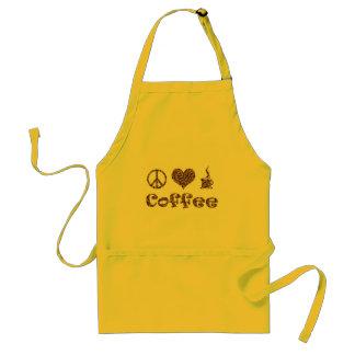 PEACE LOVE COFFEE APRON