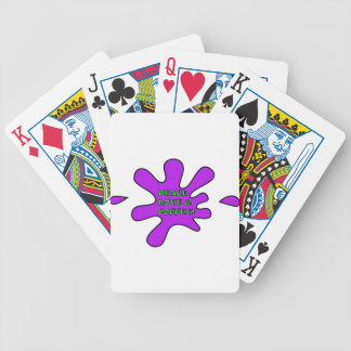 Peace Love & Coffee Bicycle Playing Cards