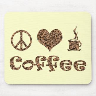 PEACE LOVE COFFEE MOUSE PAD