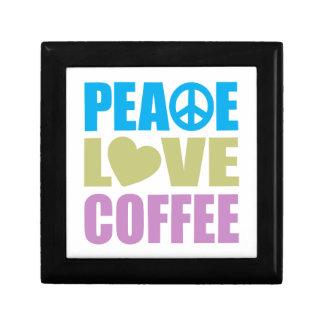 Peace Love Coffee Small Square Gift Box